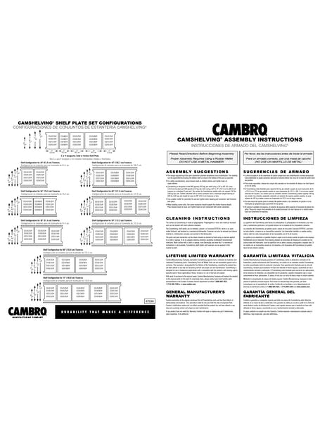 Camshelving Assembly Instructions