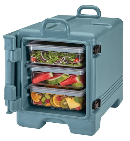 UPC300401 Slate Blue Front Loader Insulated Carrier w/ Food Pans