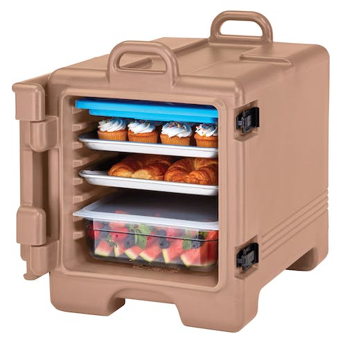 1318CC157 Coffee Beige Non-Electric Combo Camcarrier w/ Food Pans