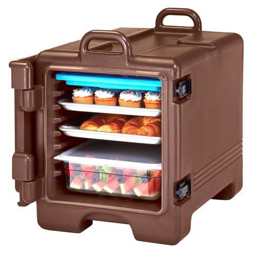 1318CC131 Dark Brown Non-Electric Combo Camcarrier w/ Food Pans