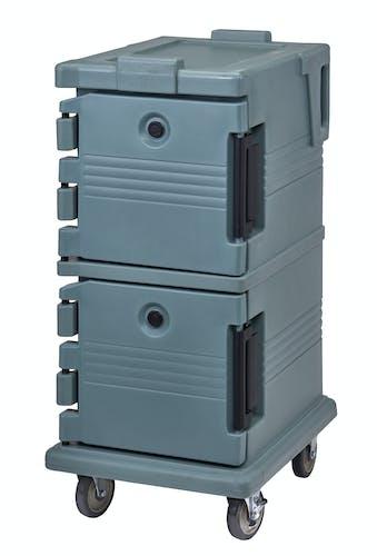 UPC600401 Slate Blue Non-Electric Ultra Camcart w/ Top Door Open & Food