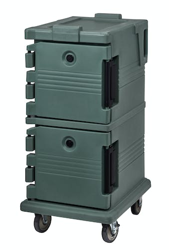 UPC600192 Granite Green Non-Electric Ultra Camcart w/ Top Door Open & Food