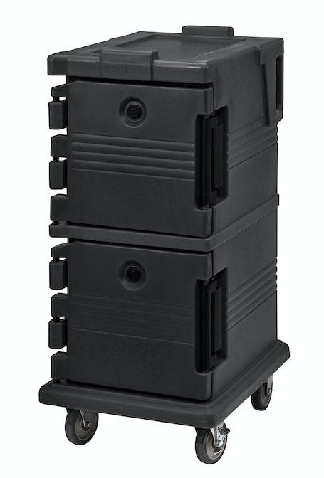 UPC600110 Black Non-Electric Ultra Camcart w/ Top Door Open & Food