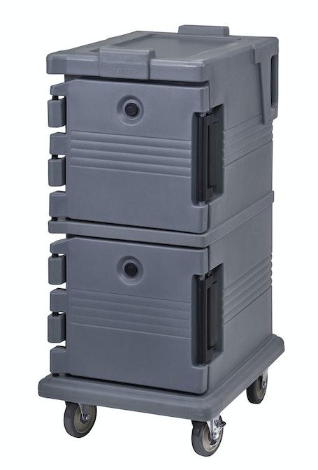 UPC600191 Granite Gray Non-Electric Ultra Camcart w/ Top Door Open & Food