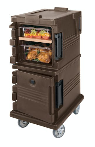 UPC600131 Dark Brown Non-Electric Ultra Camcart w/ Top Door Open & Food