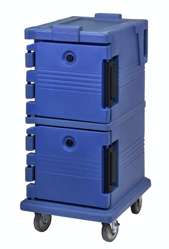 UPC600186 Navy Blue Non-Electric Ultra Camcart w/ Top Door Open & Food