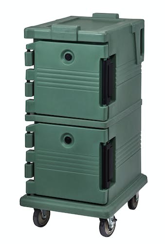 UPC600519 Green Non-Electric Ultra Camcart w/ Top Door Open & Food