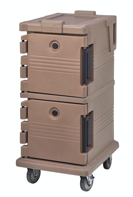 UPC600157 Coffee Beige Non-Electric Ultra Camcart w/ Top Door Open & Food