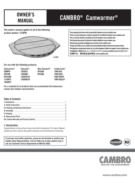 User Manual - Camwarmer