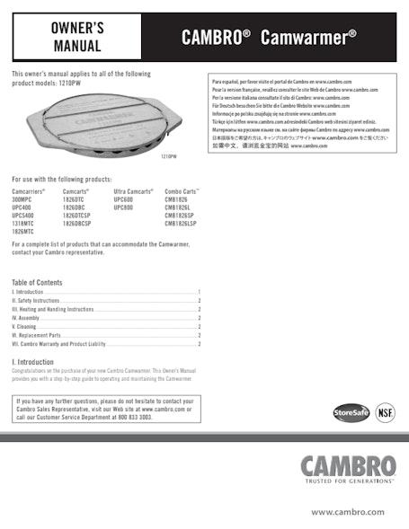 User Manual - Camwarmer