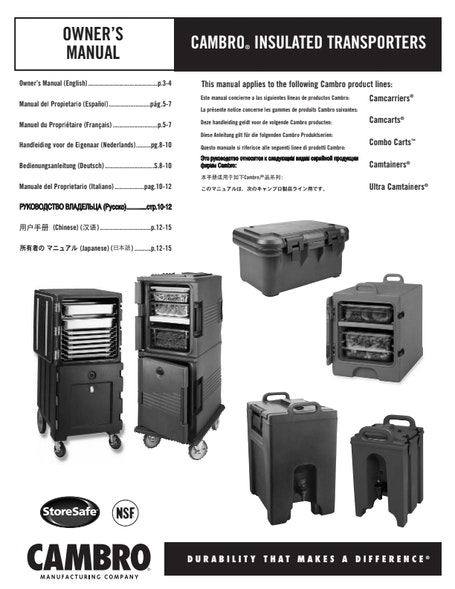 MANUAL - Insulated Transporters Manual