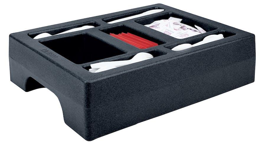 LCDCH10110 Condiment Holder for 1 Gallon Camtainer® Black