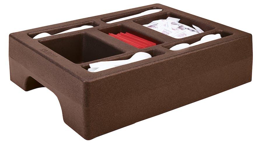 LCDCH10131 Condiment Holder for 1 Gallon Camtainer® Dark Brown