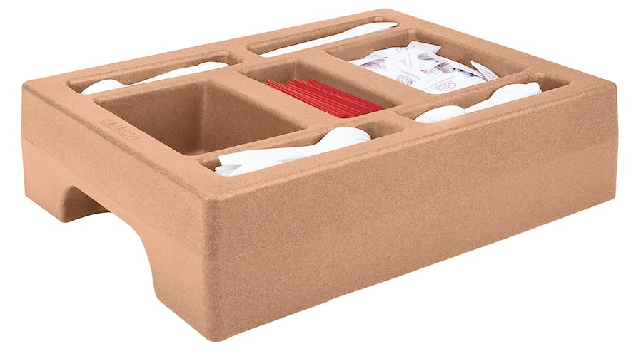 LCDCH10157 Condiment Holder for 1 Gallon Camtainer® Coffee Beige