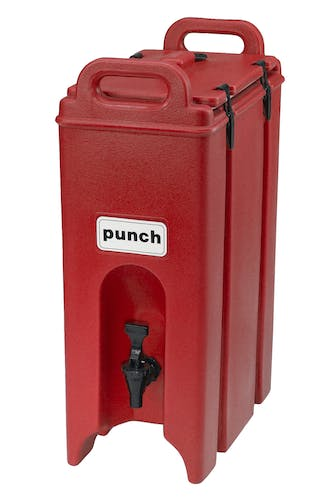 500LCD158 Camtainer® 5 Gallon Capacity Hot Red