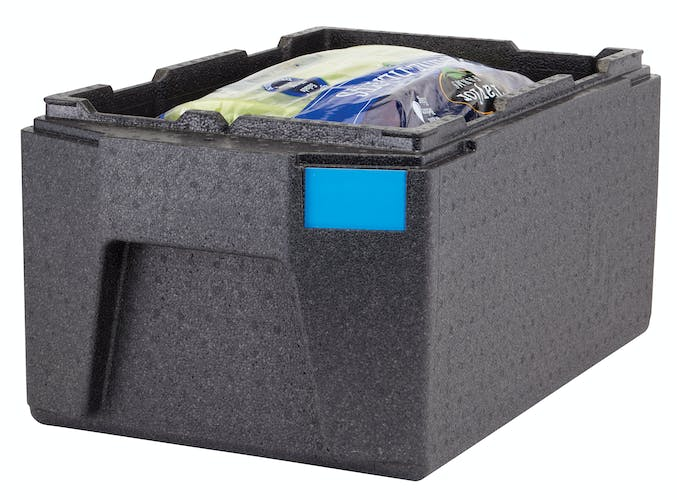 EPP180LHSW110 GoBox Top Loader Large Handle Carrier w/ Packaged Lettuce