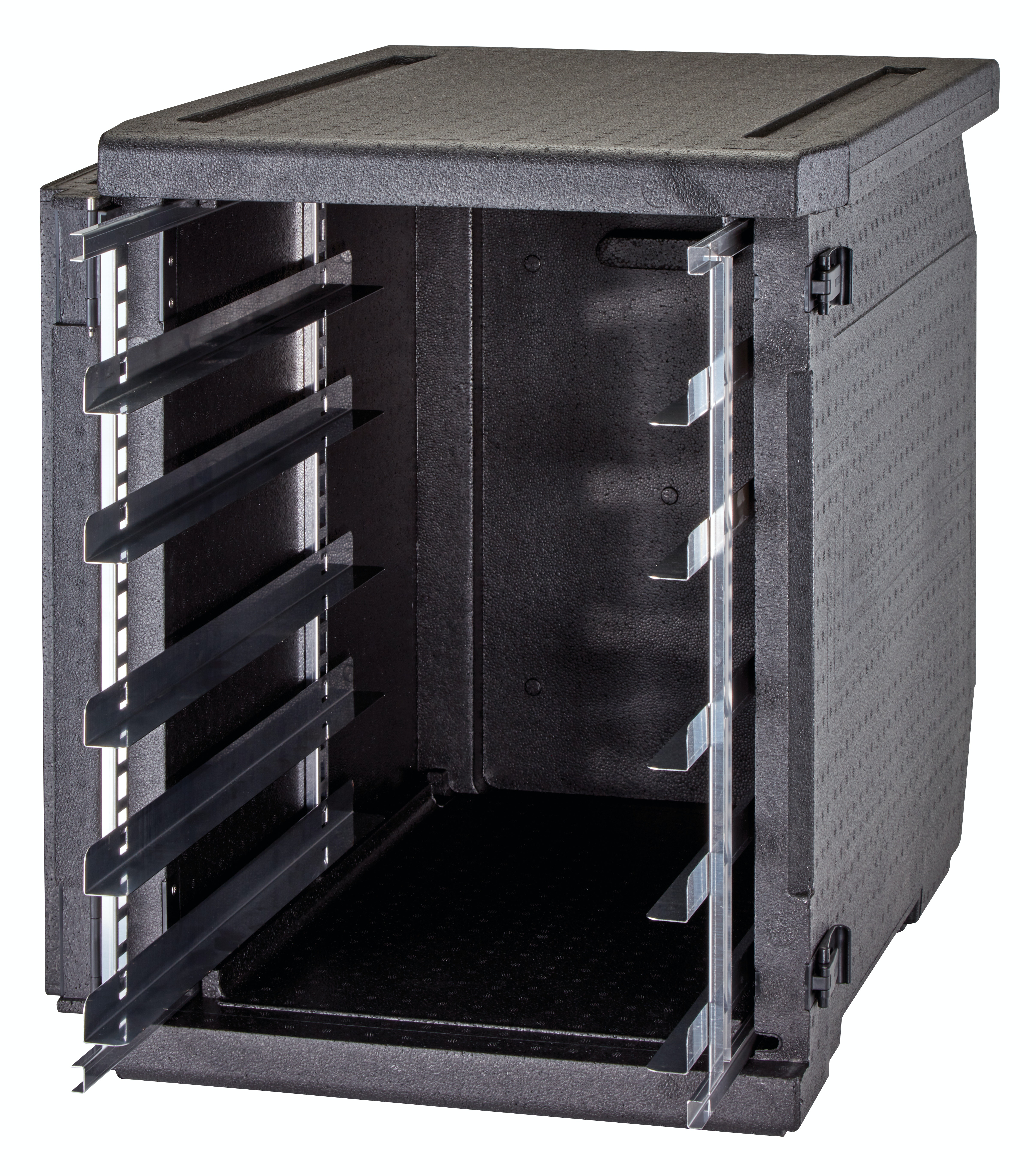 - Negro 53 L - 42,5 x 62,5 x 20,5 cm M.Int CAMBRO Contenedor isot/érmico con carga superior Cam Gobox para bandejas de 60x40 cm y 20 cm prof M.Ext 49 x 69 x 27 cm