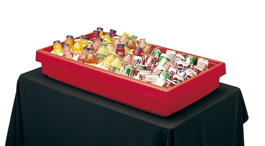 BUF48158 Hot Red Buffet Bar Base