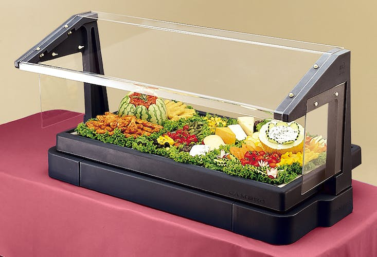 BBR480110 Table Top Black Buffet Bar w/ Sneeze Guard