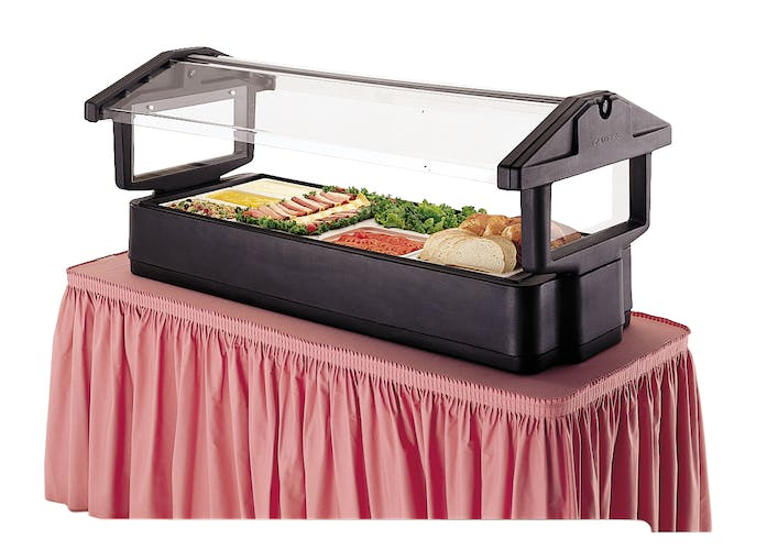 4FBRTT110 Black Table Top Food Bar