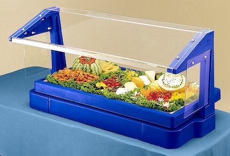 BBR480186 Table Top Navy Blue Buffet Bar w/ Sneeze Guard