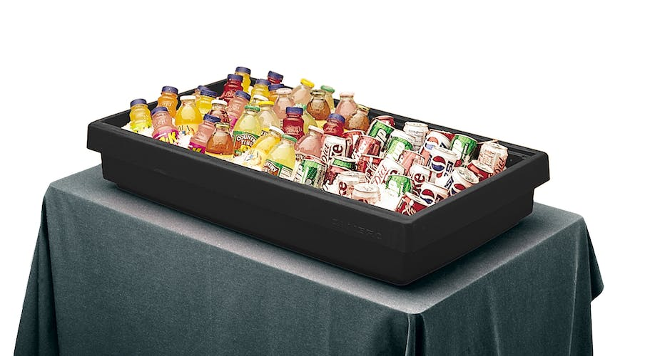 BUF48110 Black Buffet Bar Base