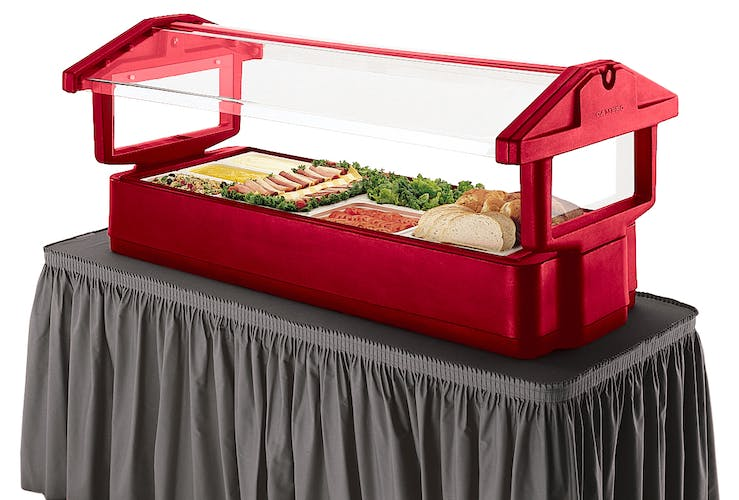 4FBRTT158 Hot Red Table Top Food Bar