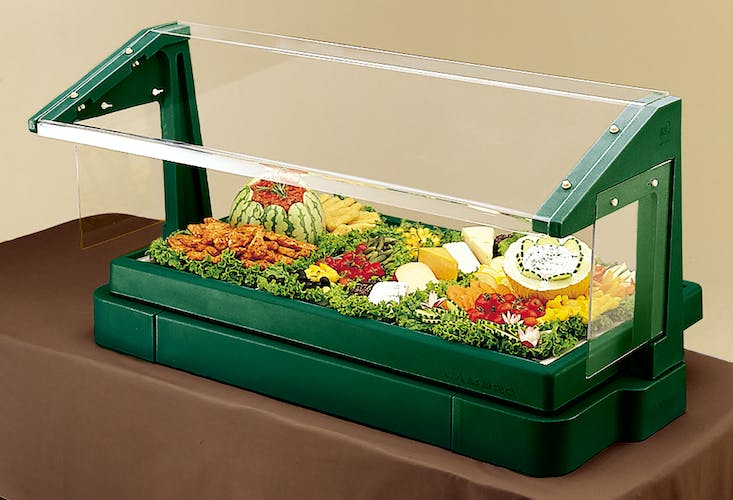 BBR480519 Table Top Kentucky Green Buffet Bar w/ Sneeze Guard
