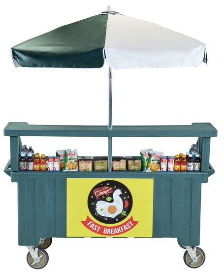 CVC724192 Granite Green Camcruiser Vending Cart w/ Snacks