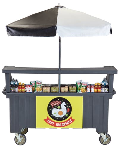 CVC724191 Granite Gray Camcruiser Vending Cart w/ Snacks