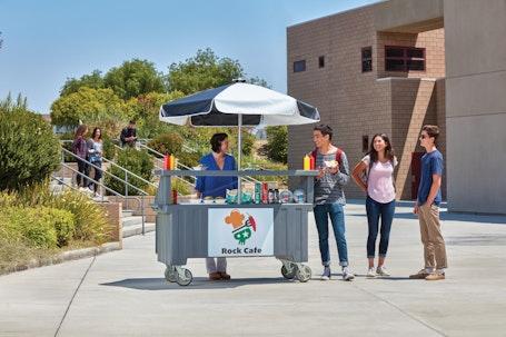 CVC72191 Granite Gray Camcruiser Vending Cart w/ Students & Building