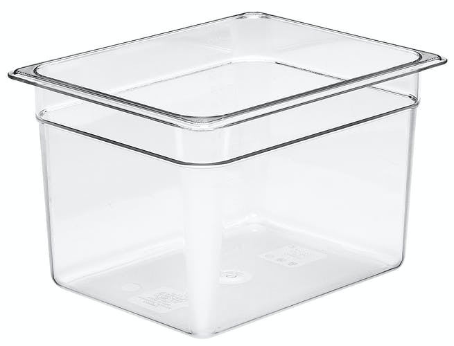 "28CW135 Camwear 8"" Half Size Clear Food Pan"