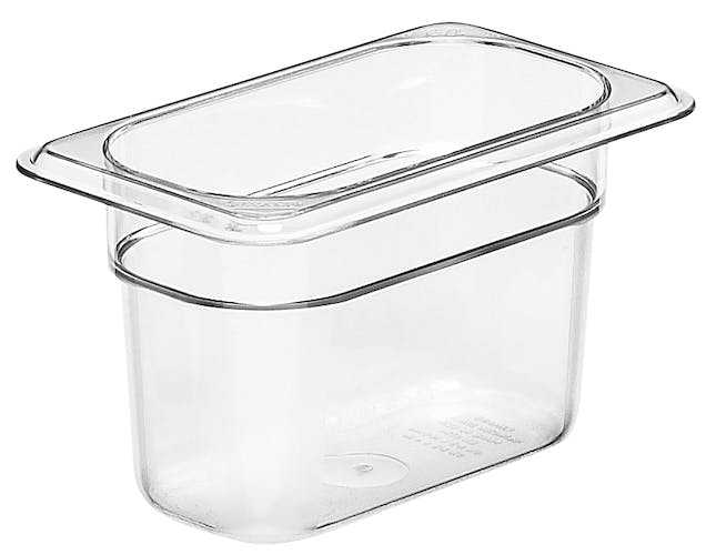 "94CW135 Camwear 4"" Ninth Size Clear Food Pan"