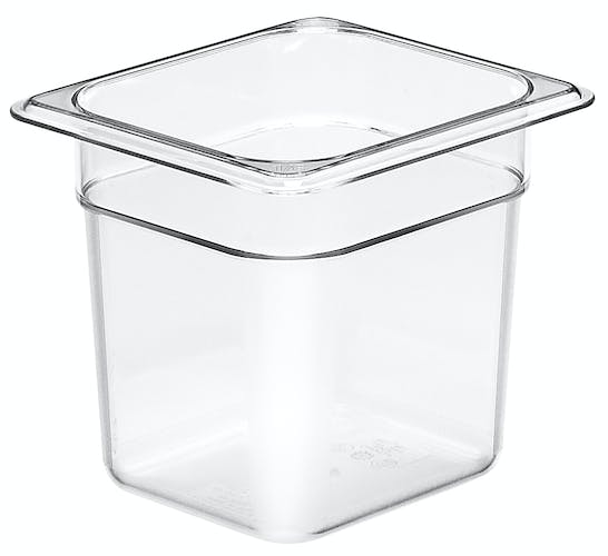 "66CW135 Camwear 6"" Sixth Size Clear Food Pan"
