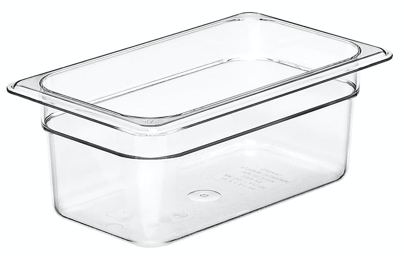 "44CW135 Camwear 4"" Quarter Size Clear Food Pan"