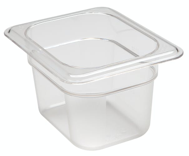 "84CW135 Camwear 4"" Eighth Size Clear Food Pan"