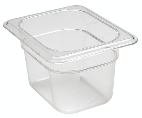 "84CW135 Camwear 4"" Eighth Size Clear Food Pan"