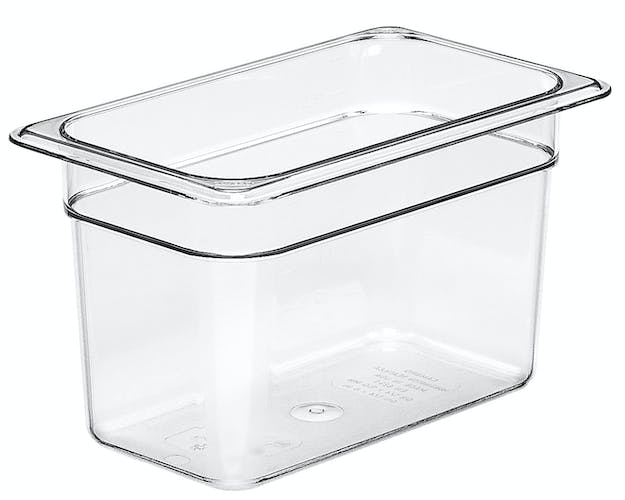 "46CW135 Camwear 6"" Quarter Size Clear Food Pan"