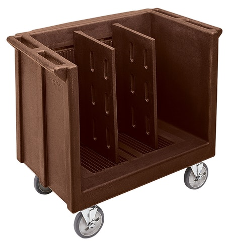 TDC30131 Dark Brown Adjustable Tray & Dish Cart