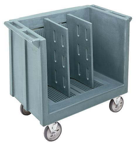 TDC30401 Slate Blue Adjustable Tray & Dish Cart