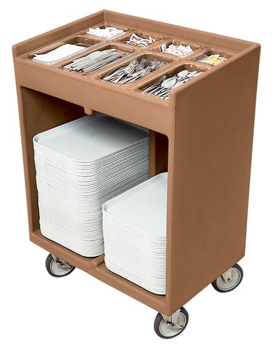 TC1418157 Coffee Beige Tray & Silverware Cart