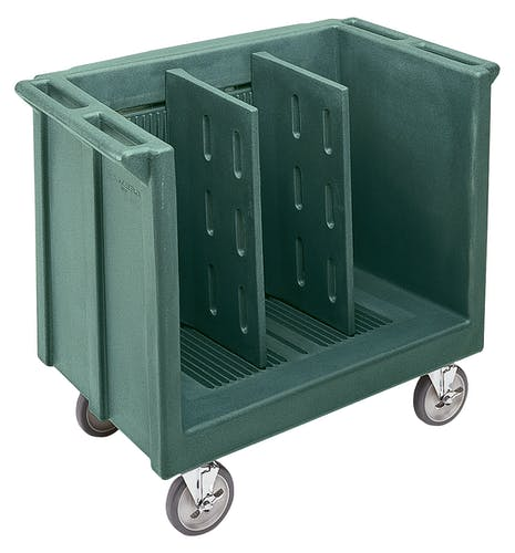 TDC30192 Granite Green Adjustable Tray & Dish Cart