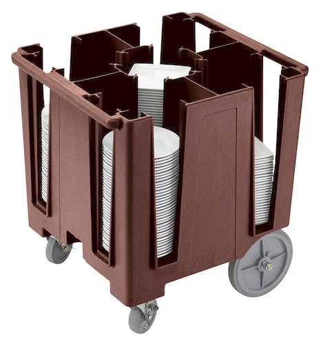DCS950131 Dark Brown Versa 5-Column Dish Caddy