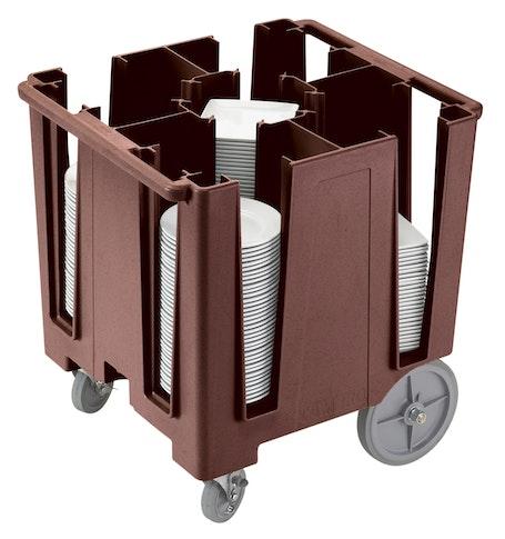 DCS950131 Dark Brown Versa 5-Column Dish Caddy