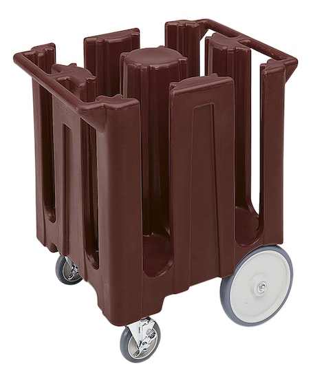 DC825131 Dark Brown Poker Chip Style Dish Caddy