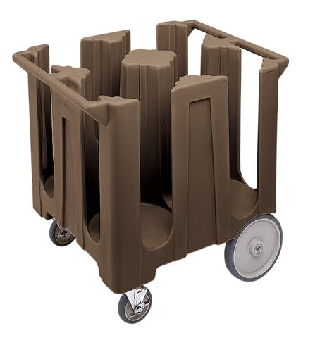 DC1225131 Dark Brown Poker Chip Style Dish Caddy