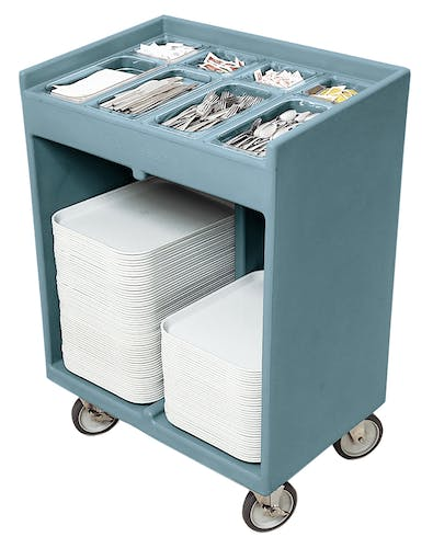 TC1418401 Slate Blue Tray & Silverware Cart