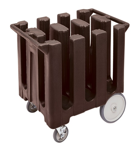 DC700131 Dark Brown Poker Chip Style Dish Caddy