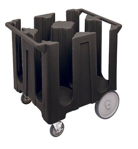 DC1225110 Black Poker Chip Style Dish Caddy