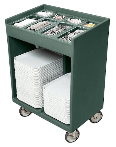 TC1418192 Granite Green Tray & Silverware Cart